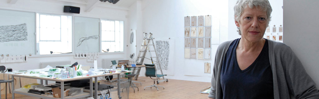 The artist Susanna Heron in her studio